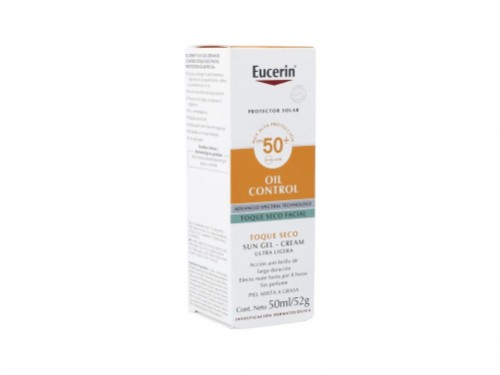 Protector Solar SunGel-crema Oil Control Toque Seco FPS50 50ml Eucerin