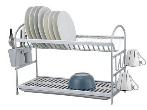Escurridor Secaplatos Aluminio Inox Premium 2 P - Hot Sale