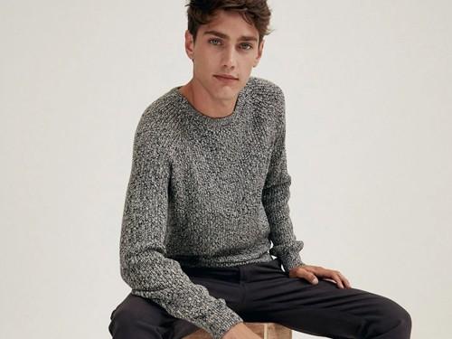 Sweater Obi de Hombre, Escote Redondo, Algodón, tacto suave, Equus