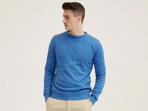 Sweater Voer, Hombre, Escote Redondo, Algodón, Menguado, Francia Equus