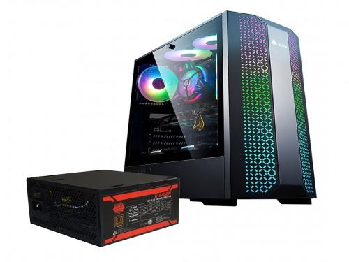 Gabinete Gamer Game Pro 7689B + 3 Fans ARGB + Fuente 650w