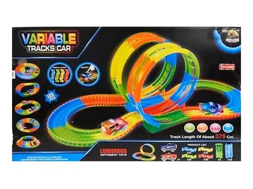 Pista Flexible 135 Pcs Con 1 Auto Luminoso 1728497