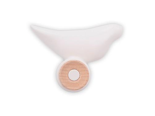 Perchero de Pared Bird de plástico ABS con Madera