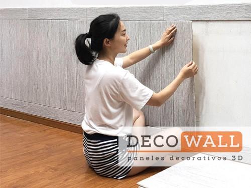 Revestimiento Madera Autoadhesivo pared en 3D Aislante Decowall