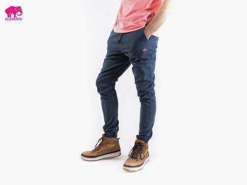 Pantalones Joggers de gabardina con puños elastizados Elepants®