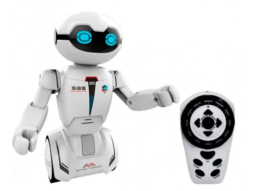 Robot Macrobot Blanco 18 Cm R/c Silverlit 88045