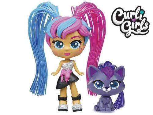 Muñeca Curli Girls Fashionista Con Mascota Crea Peinados Silverlit