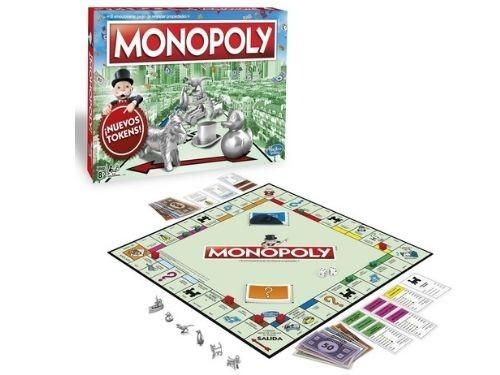 Juego De Mesa Monopoly Gaming Nueva Edición Piezas de Metal Hasbro