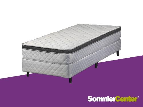 Sommier y colchón Resorte Bonnell 080x190x23Jackard Euro Telgo