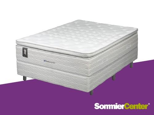Sommier y olchón Resorte Pocket Premium 140x190x38 EspumaVisco Sealy