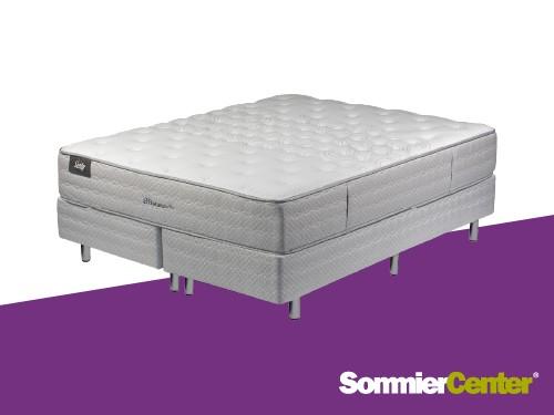 Sommier y Colchón Pocket Queen 160x200x30 Tejido de Punto Sealy
