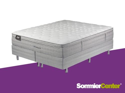 Sommier y Colchón Resorte Pocket King 200x200x35 EspumaVisco Sealy