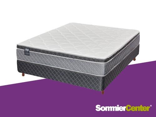 Sommier y colchón Pocket 2 plazas 140x190 Jackard Europillow Sealy