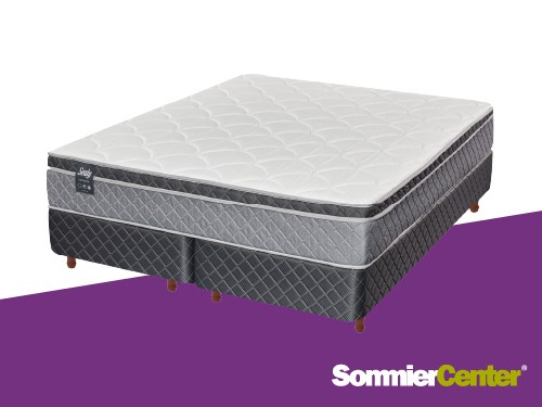 Sommier y colchón Pocket King 200x200 Jackard Europillow Sealy