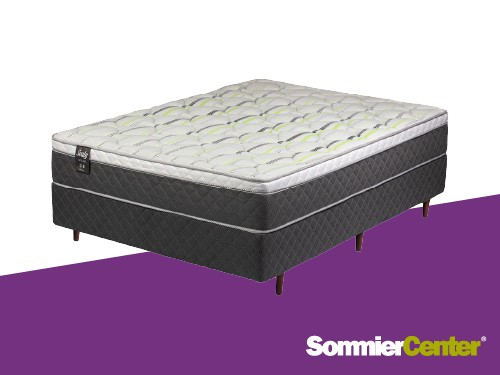 Sommier y colchón Alta Densidad 2 plazas 140x190x28 Tejido PiquéSealy