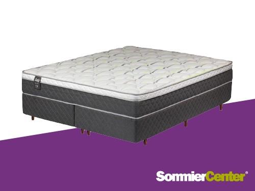Sommier y colchón Alta Densidad 21/2plazas160x200x28 Tejido PiquéSealy