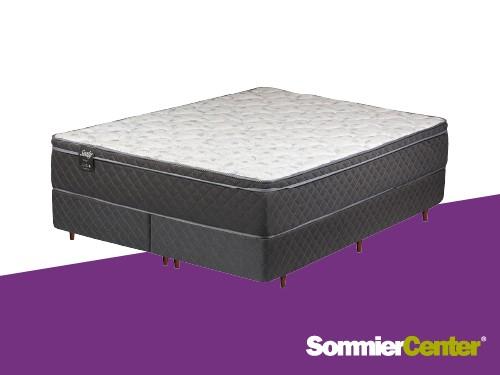 Sommier y colchón Resorte 160x200x28 Tejido Jackard Espuma Látex Sealy