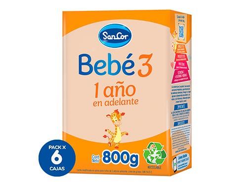 Leche Sancor Bebe 3 Nutricion Comp. Polvo 800gr X 6 Cajas