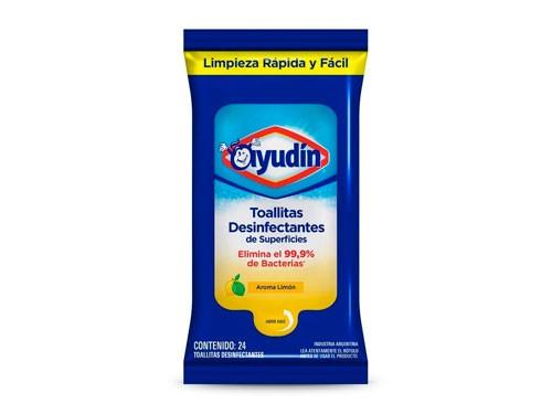 Ayudin Toallitas Desinfectantes Economico Aroma Limon 24 Un