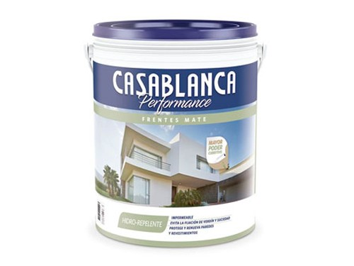 Pintura Látex Exterior Casablanca Performance Frentes blanco 20 Litros