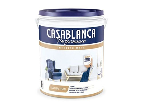 Pintura látex interior Casablanca Performance 20 litros