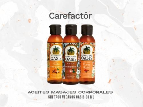 ACEITES MASAJES CORPORALES SIN TACC VEGANOS OASIS 60 ml