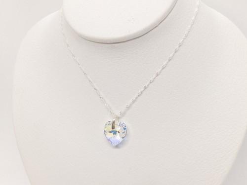 Collar de Plata con Cristal Swarovski Corazon 14mm
