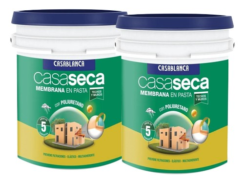 Promo impermeabilizante Casaseca Membrana en pasta 2 x 10 Litros