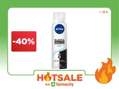 Nivea Desodorante Antitranspirante mujer Invisible Black Pure x 150 ml