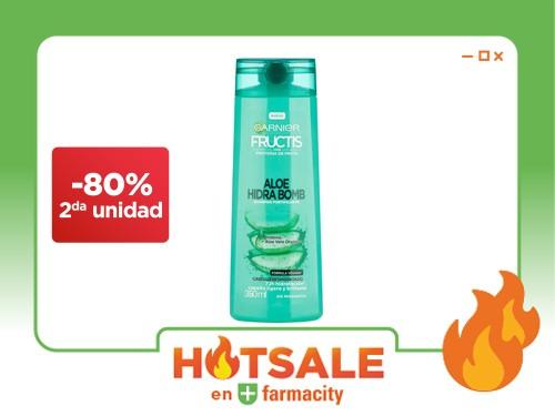 Shampoo Garnier Fructis Aloe Hidra Bomb x 350 ml