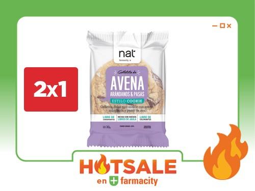 Galletitas Nat de Avena, Arándanos y Pasas x 30 g