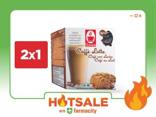 Café en Cápsulas Caffé Bonini Caffé Latte x 16 un