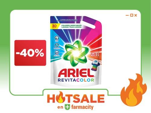 Detergente Líquido Ariel Revitacolor x 3 l