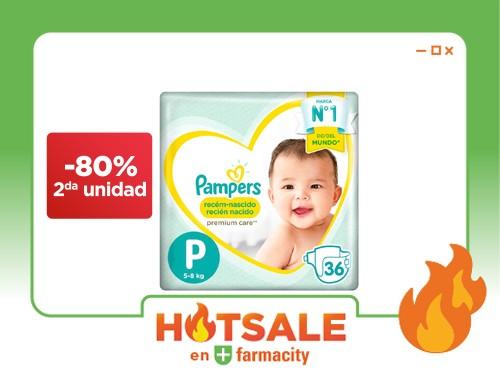 PAMPERS Pañales Premium Care Hiperpack Recién Nacido Talle P x 36 un