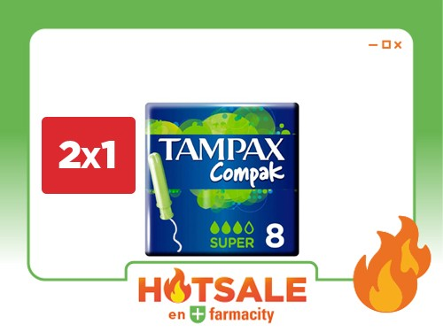Tampones Tampax Compak Súper x 8 un