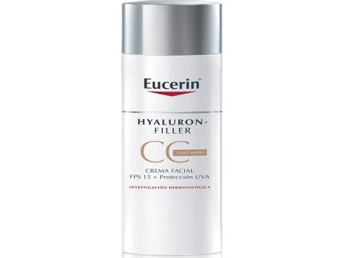 C. Facial AntiArruga Eucerin Hyaluron-Filler CCCream Fps15 Medium 50ml