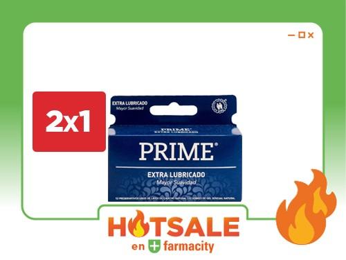 PRIME Preservativo de Látex Extra Lubricado x 12 un