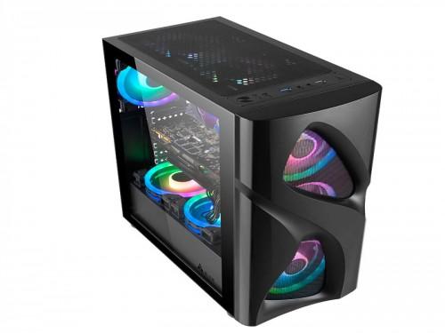 Gabinete Gamer PC GamePro Mesh Templado + Fans 120 x 3 RGB