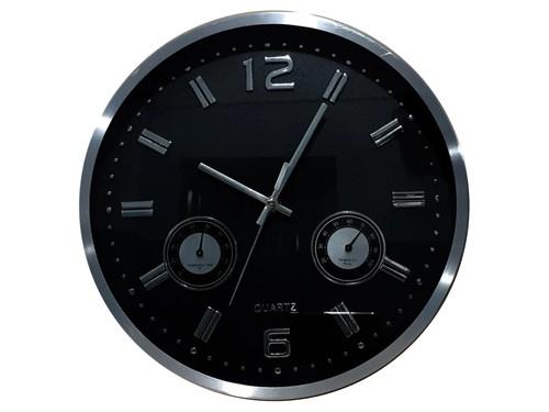 Reloj De Pared Metal Temperatura Humedad M10 - Hot Sale