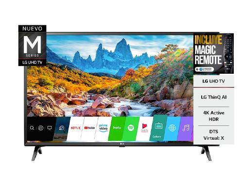"Smart Tv Led 50"" UHD 4K Bluetooth HDMI USB CTR LG"