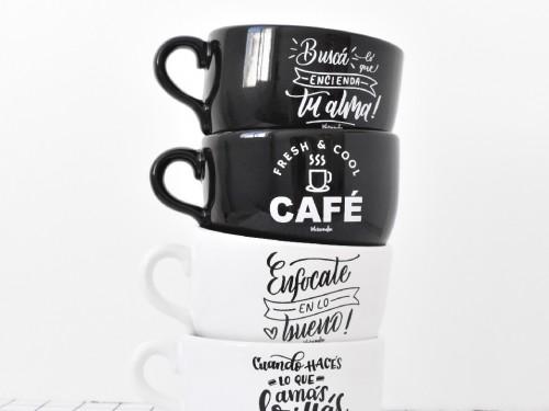 Tazón negro Café