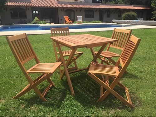 Juego de jardín Bali - Mesa + 4 sillas
