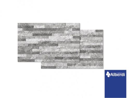 Cerámica Alberdi Salerno Gris 34x51 Revestimiento Piedra