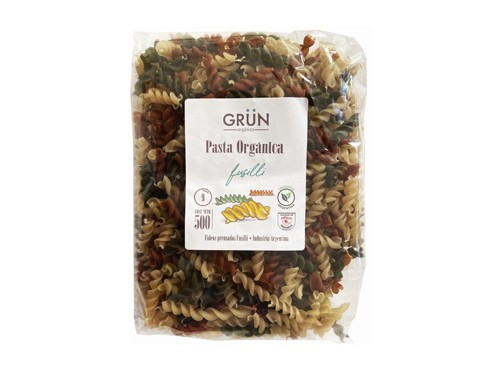 Pasta Orgánica Fusilli Multicolor 500gr Grun -30%