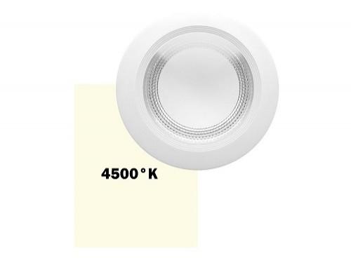 Panel LED COB 30W redondo empotrable luz neutra MACROLED