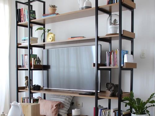 Mueble para TV BROOKLYN. Hierro y madera. Fabricación a pedido.