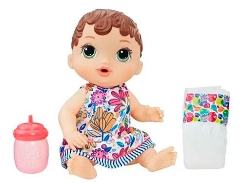 Muñeca Baby Alive Bebé Sorbitos Mamadera Y Pañal E0385 E0499 Hasbro