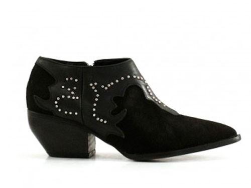 Botas cortas de gamuza negro de mujer Batistella