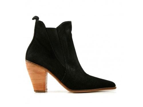Botas cortas de gamuza en negro de mujer Batistella