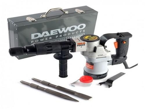 Martillo Demoledor Daewoo 1050w 15j 17mm + Puntas + Maletin